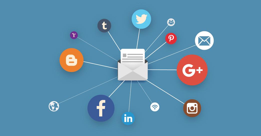 réseaux sociaux emailing