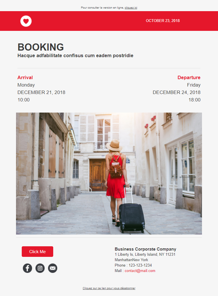 exemple email auto tourisme
