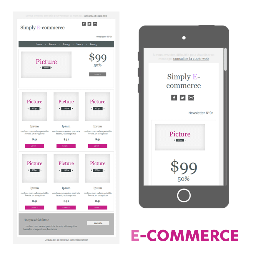 template soldes ecommerce