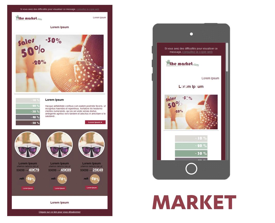 template soldes market