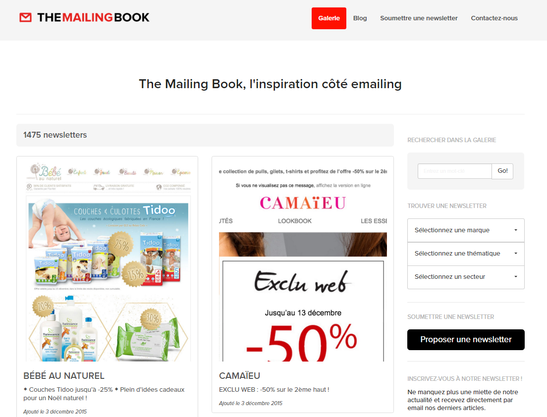 the mailing book