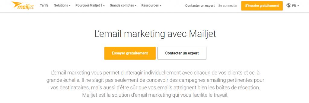 le logiciel de mailing mailjet