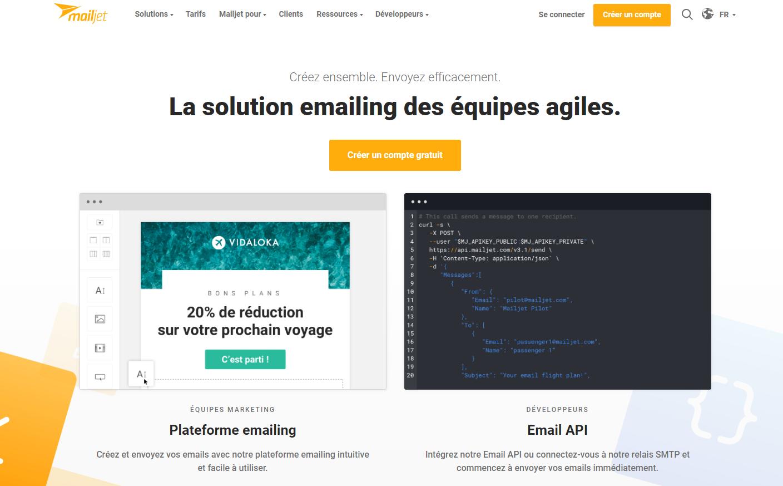 Mailjet est une alternative intéressante à Mailchimp et en français