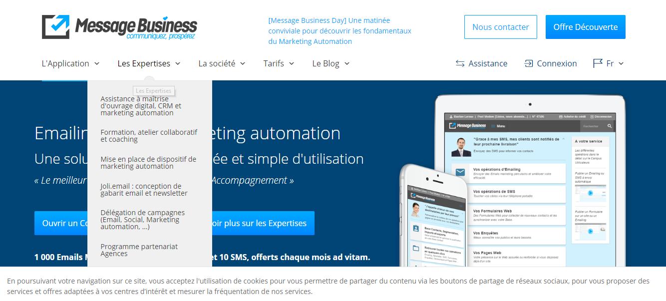 logiciel de newsletter messagebusiness