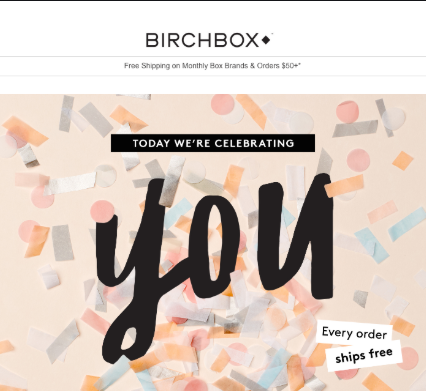 examples of « Birthday » emails 3