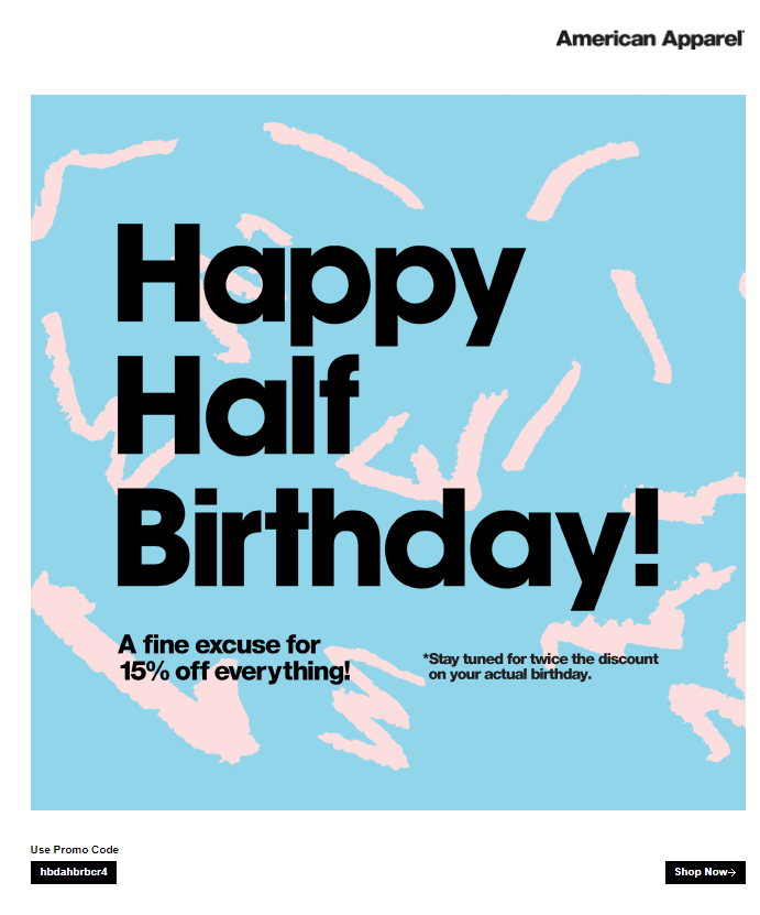 examples of « Birthday » emails 2