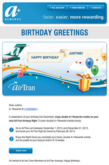 examples of « Birthday » emails 5