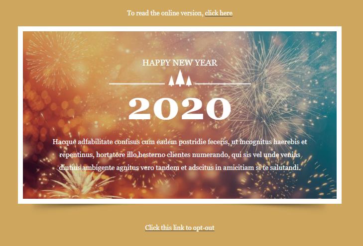 exemple newsletter fin d'année