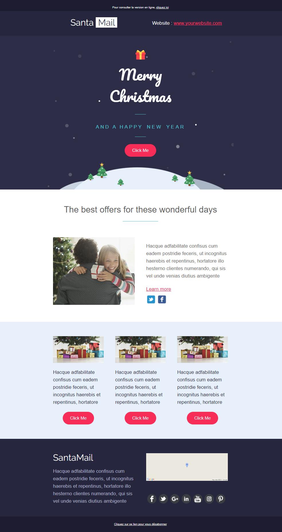 exemple newsletter noel ecommerce