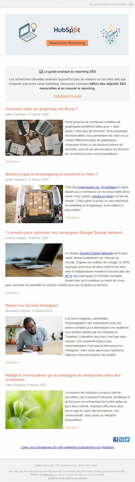 newsletter hubspot