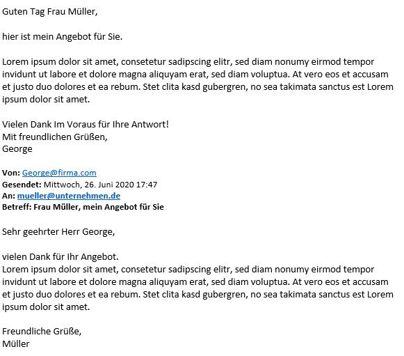 Reine Text Mail
