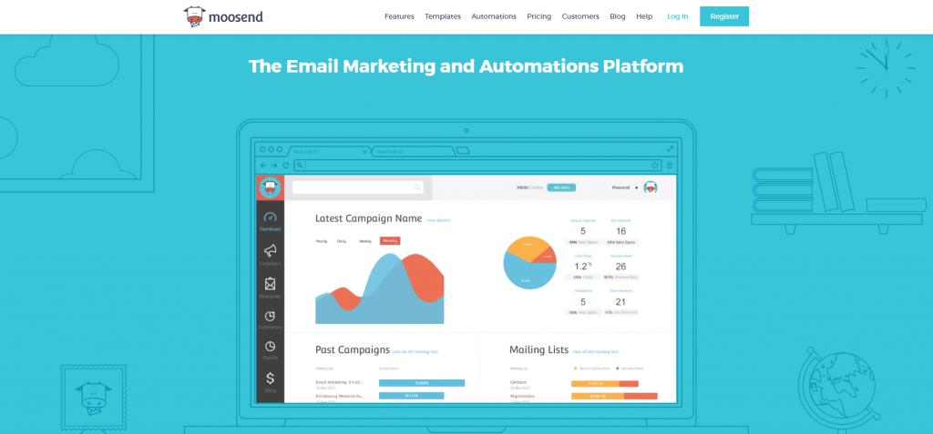 moosend est un logiciel d'emailing simple